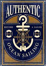 Océano navegación,estilo antiguo,Letrero Metal, Coleccionable, esmalte, no.692