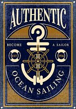 OCEAN SAILING, Vintage style, Metal sign, Collectable, Enamel, No.692