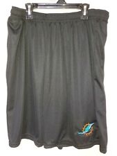 0724 Mens NFL MIAMI DOLPHINS Polyester Jersey SHORTS Embroidered W/Pockets NEW
