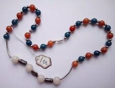 Genuine apatite, red and pink aventurine necklace 45 cm (18 inches)