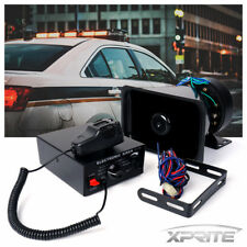 100W 12V Loud Speaker PA Horn Siren System Mic Kit Police Car Fire Truck