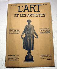 L'ART ET LES ARTISTES/REVUE/N°59/FEVRIER 1910/ART DECORATIF/PLANCHE DE FORAIN