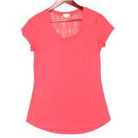 Madison & Berkeley Women's Red Crotchet Knit Back T-Shirt Top - Size Medium