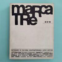 MARCATRE Notiziario di cultura contemporanea 8/9/10 1964 - Lerici Editori
