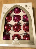 Vintage Delta USA Small Rose Pink Glass Christmas Ornaments -  American Made