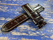 Panerai Dark Brown Factory OEM croc alligator strap 24mm for 44mm models 24/22
