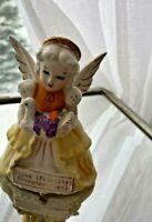 Vintage November Birthstone Birthday Month ANGEL holding Thanksgiving Turkey