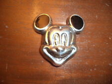 VINTAGE STERLING SILVER ONYX PIN BROOCH PENDANT MICKEY MOUSE PENDANT