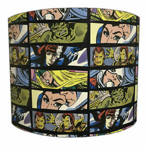 Marvel Lampshades, Ideal To match Marvel Wallpaper & Marvel Comic Duvet Covers.