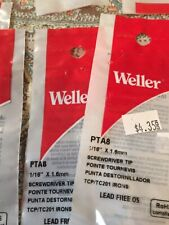 3x Original Weller Pta8 Soldering Screwdriver116800f For Tcp Tc201