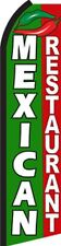 MEXICAN RESTAURANT Swooper Flag Tacos Food Tall Vertical Feather Bow Banner Sign