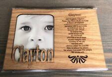 Wooden Frame With Name Meaning -Clayton