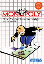 Monopoly Sega Master System enmarcado impresión (cueva de hombre Foto de juego juegos Arte)