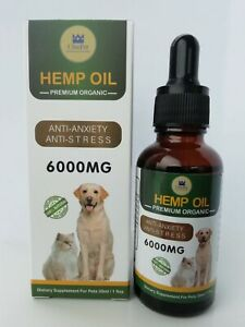 ChicPet UK Hemp Oil 6000mg (HIGH STRENGTH) for Dogs, Cats and Small Pets