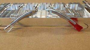 Jigging Minnow Jig Mold ( KIT 100 ) - CNC Aluminum 5 Cavity ( 1 oz and 3/4 oz )