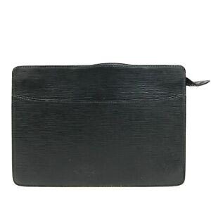 100% authentic Louis Vuitton Epi Pochette Homme Black M52552 [Used] {04-117C}