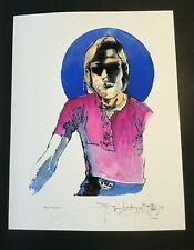 SIGNED By STANLEY MOUSE- BOB WEIR GICLEE FINE ART PRINT 17x22 TEST PRINT