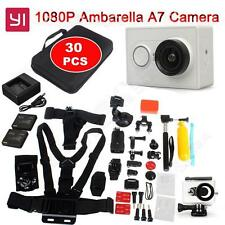 White Xiaomi Yi Helmet Action Camera DVR+30pcs Accessories Sets+Charger+Battery