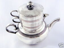 Antique Stacking Tea Set, creamer, sugar, pot, Delamere shape Apollo Silver 1530