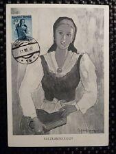 Austria MK 1950 Trachten maximum scheda Costumes carte MAXIMUM CARD MC cm a8471