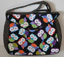 Owl Design Craft/Knitting/Quilting Bag Satchel Style Luxury - Long Handle - Gift