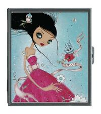 Classic Hardware Mirror Compact CAIA KOOPMAN - LOVE - New! Big Eye Art!