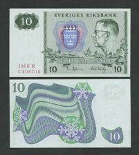 SWEDEN - 10 kronor  1968  P52b  Uncirculated  ( Banknotes )