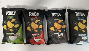 Rob's Chips, Robs Chips Omg zu geile Chips! Fullset, alle 4 Sorten mit Sweet BBQ