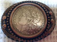 1889 $1 Morgan Silver Dollar Belt Buckle