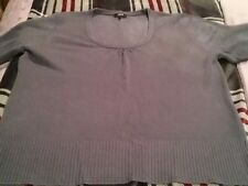 Ladies Slate Grey Scoop neck Jumper sz 18