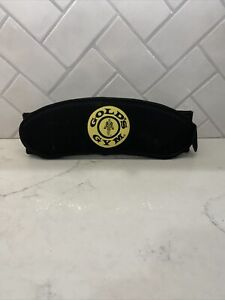 Golds Gym Nylon Weight Lifting Belt Size Small / Medium Yellow Logo Black