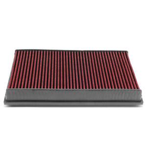 Fit VW Cc/Eos/Passat/Audi Tt Red Reusable/Durable Engine Air Filter Intake Panel