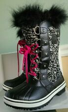 Sorel Women's Tofino II  Winter Waterproof Fur Quarry/Black Boots Size 5