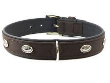 Hunter Hundehalsband Softie Stone, Größe 45, braun/schwarz, Kunstleder