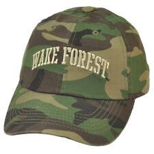 NCAA Wake Forest Demon Deacons Camouflage Camo Garment Wash Sun Buckle Hat Cap