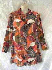 "Stylish  ""KATHLEEN BERNEY""  Cotton Silk Tunic Shirt Size XXXL"