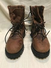 Women Brown Chippewa Steel Toe Boots Vibram Lace Up  Sz 7 Sb C