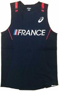 Asics Men's France TI Running Track & Field Singlet Vest Top XRK757 New Size XXL