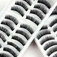 1028G -20 Pairs Black Long HANDMADE Voluminous False Eyelash Eye lashes