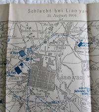 Original era Russo-Japanese War map Battle of Liaoyan Aug 31 1904 - Tettau vol