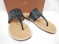 Coach Bernice A7867 Black Leather Thongs Adorned W/ Small Metal Studs- 7.5M