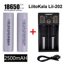 2x 18650 Li-ion Rechargeable Vape Mod Battery 3.7V 2500mAh + Smart Dual Charger