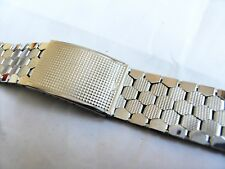 VINTAGE 20mm Stainless St NEW OLD STOCK Gents Orologio Bracciale, con marchio