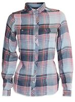 NEW FAT FACE Cotton Blue Red Green Check Tunic Blouse Shirt Size 6 to 12