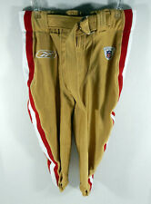 2009 San Francisco 49ers #34 Team Game Issued Gold Pants Reebok Size 34 3186