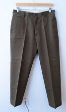 Filson Mens Casual Pants Size 32 x 31 Brown Flat Front 100% Cotton