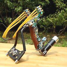 Adjustable Stainless Hunting Laser Slingshot High Velocity Catapult Slingshot...