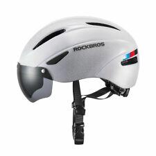 ROCKBROS White Bicycle Helmet MTB Road Bike PC Riding Helmet with Goggle 57-62cm