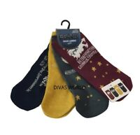 Harry Potter Hogwarts All House Printed 4 Pairs Shoe Liners Ladies Socks Primark