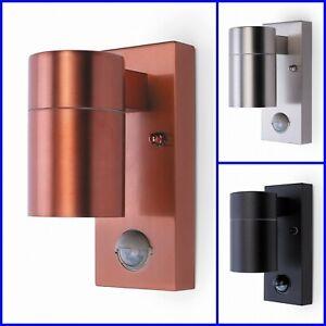 GU10 IP44 Black Copper Silver PIR Motion Sensor Security Outdoor Wall Down Light